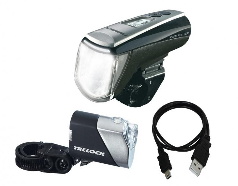 trelock control ion ls950 720 led batterie leuchten set online. Black Bedroom Furniture Sets. Home Design Ideas