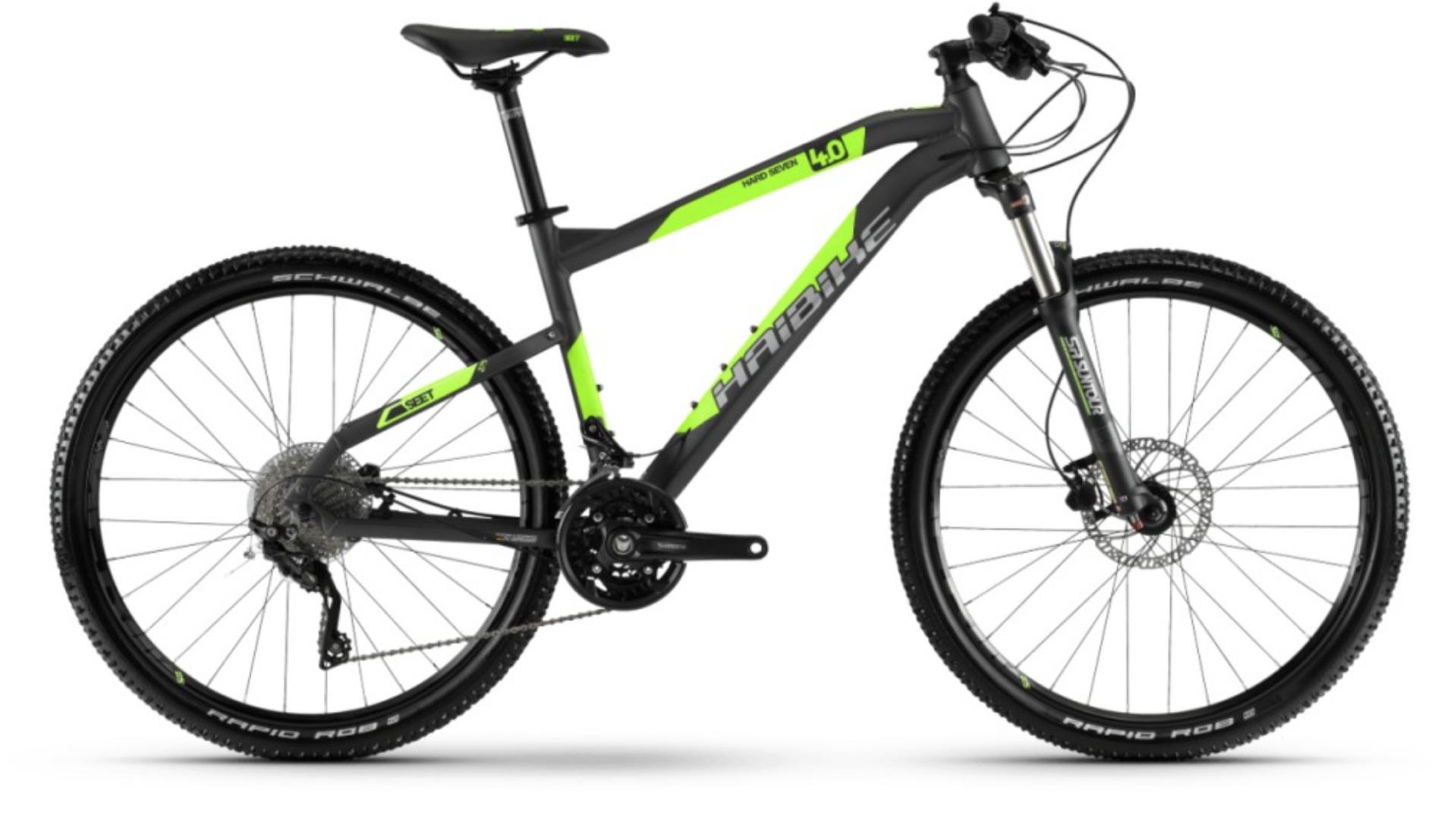 Mountainbike Neongrün